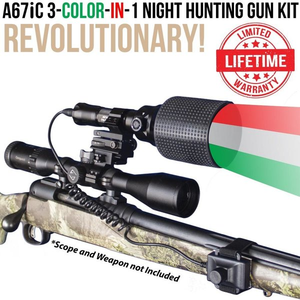 Wicked Light A67ic Predator Hunting Light Kit
