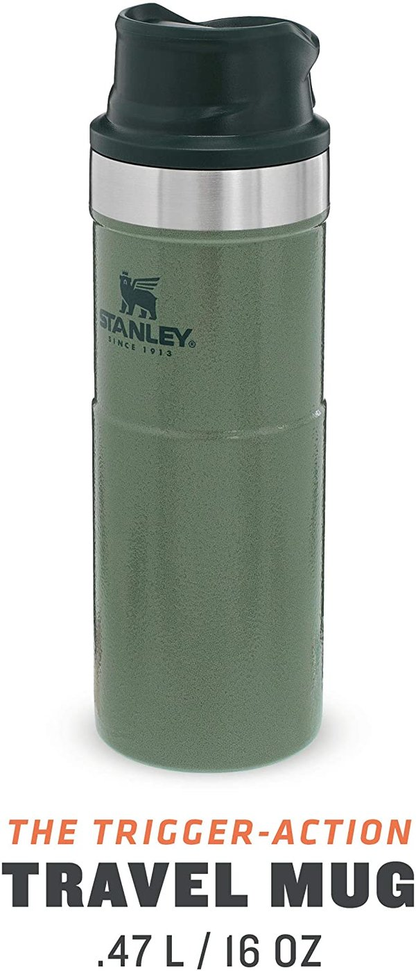 Stanley Classic One Hand Travel Mug 473ml Green