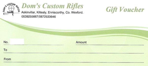 Doms Custom Rifles Gift Voucher