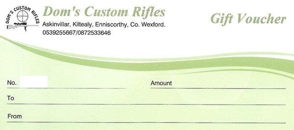 Doms Custom Rifles Gift Voucher